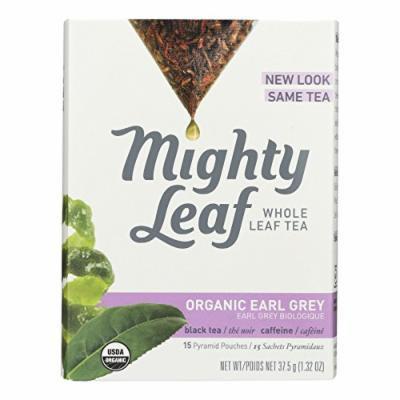 Mighty Leaf Tea Black Tea - Organic Earl Grey - Case of 6 - 15 Bags