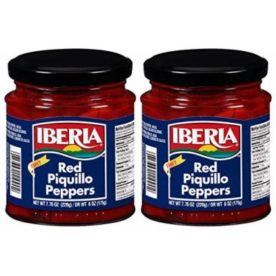 Iberia Fancy Red Piquillo Peppers, 7.76 oz, pimento (2 bottles)