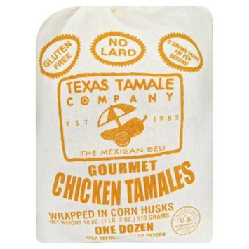 Texas Tamale Company Chicken Tamales, 12 count.