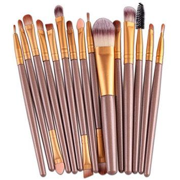 2018 Professional Makeup Brush Set Makeup Brushes 15 Pcs/Sets for Facial Brow and Lip by TOPUNDER R