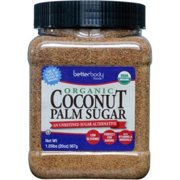 Betterbody Foods Organic Coconut Palm Sugar, 1.25 lbs