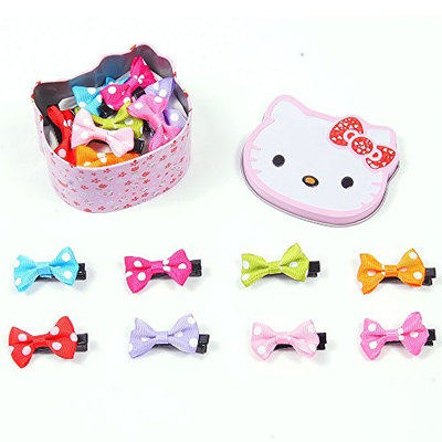 Seebedoo Baby Hair Bows Clips Barrettes pins Grosgrain For Girls Toddlers Babies Teens Kids 8Piece [8 Colors: 8Pcs Clips]