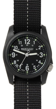 Bertucci Unisex Savvy Resin Case Black Dial Black Nylon Band Round Watch - 11043