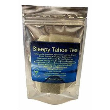 Dr Mom's Supplement Tea - Formulated for Sleep! LOADED with Vitamins! B12, C, E, D3, GABA, Omega 3's, superfoods, MELATONIN, and more! Organic. Calming Tea. (Sleepy Tahoe Tea, 14 Tea Bags)