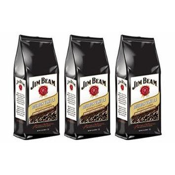 Jim Beam Bourbon Vanilla Bourbon Flavored Ground Coffee, 3 bags (12 oz ea.)