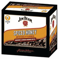 Jim Beam Spiced Honey Bourbon Flavored Single Serve Coffee, 18 cups, Keurig 2.0 Compatible