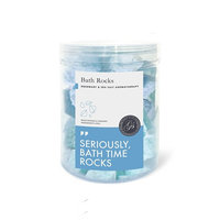 Bath Bomb Rocks (320g, Rosemary) - Best Gift Idea - Highest Quality Ingredients & Shea Butter for Moisturizing Dry Skin - Essential Oil Handmade Spa Fizzies - Top Relaxation Box