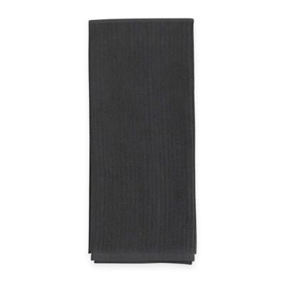 Aria Solid Ribbed 2-in-1 Duo Kitchen Towel