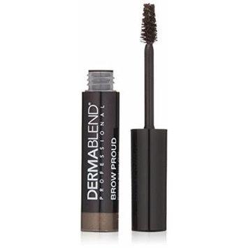 Dermablend Brow Proud Filling Fiber Eyebrow Gel Smudge and Transfer Resistant, Deep Brown