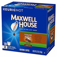 Maxwell House House Blend Decaf Coffee, Medium Roast, K-CUP Pods, 18 count(Pack of 3) DFWE