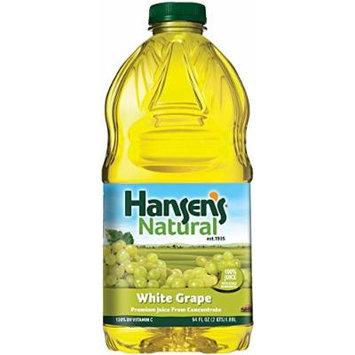 Hansen's 100% Fruit Juice, White/Grape, 64 Ounce (Pack of 8)