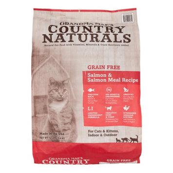 Grandma Mae's Country Naturals Grain-Free Salmon Meal Recipe Dry Cat Food, 12 Lb