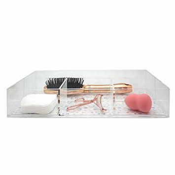 Danielle 4-Compartment Acrylic Makeup Organizer, Arrows