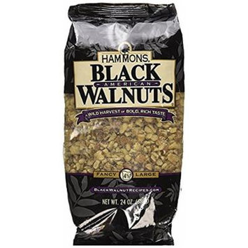 Hammons American Black Walnuts,24 Ounce ( Pack of 4 )