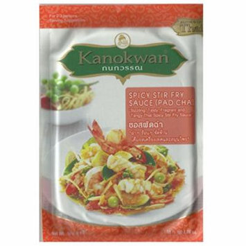 Kanokwan Spicy Stir Fry Sauce (Pad Cha) 1.76 oz / 50g, (Pack of 4)