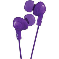 Jvc Gummy Plus In Ear Headphones With Remote Amp Amp Mic Violet HEC0MA1OZ-1612