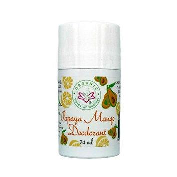 Organic Fields of Heather Papaya & Mango Organic & Natural Deodorant with Botanically Infused Ingredients, 2.5 fl. oz