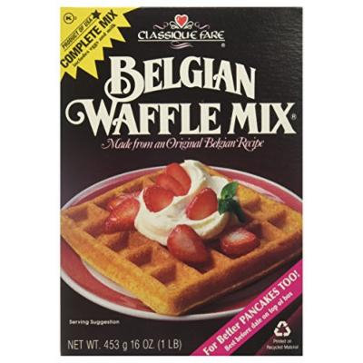 Classique Fare 6 Piece Fare Belgian Waffle Mix, 7.45 Pound