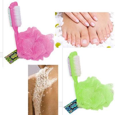 Alltopbargains 4 Pc Bath Shower Mesh Scrub Sponge Exfoliating Body Wash Nylon Puff Scrub Wash