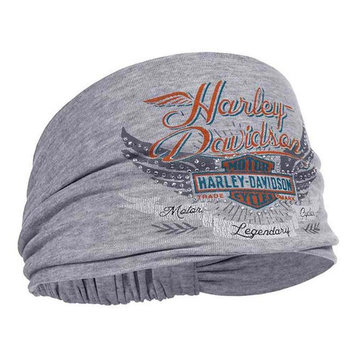 Harley-Davidson Women's Studded Winged Bar & Shield Headband Scrunchie HE17354, Harley Davidson
