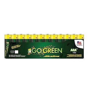Go Green Power Inc. AAA Alkaline Batteries, 24 Count [24]