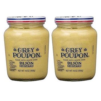 Grey Poupon Dijon Mustard, 16 oz, 2-pack