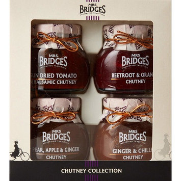 Mrs Bridges Chutney Collection, 3.5 Ounce (Pear, Apple & Ginger, Ginger & Chili, Sun Dried Tomato & Balsamic, Beetroot & Orange)