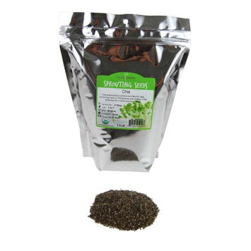 Handy Pantry Organic Chia Sprouting Seeds - Non-GMO Chia, Food, Pet Refill - 2.5 Lbs