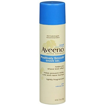 AVEENO Positively Smooth Shave Gel 7 oz (9 Pack)