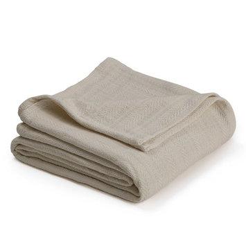 Vellux Chevron Textured Cotton Woven Blanket - Cozy, Warm, All-Seasons