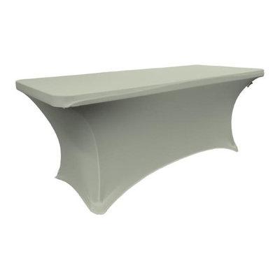LA Linen TCSpandex96x30x30-GrayLightX41 Rectangular Spandex Tablecloth Light Gray - 96 x 30 x 30 in.