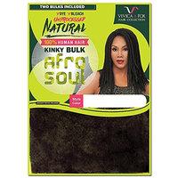 VVICA A FOX Unprocessed 100% Natural Human Hair Afro Kinky Curl Kinky Bulk Braid - HKBK16-N
