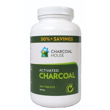 Charcoal House Activated Charcoal Tablets - 365 USP Certified Tabs