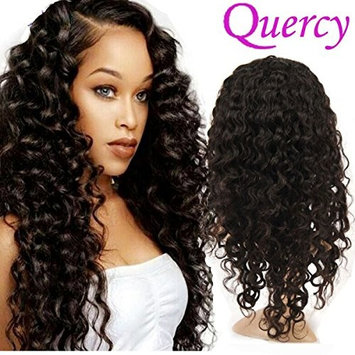 Quercy Hair Deep Wave Lace Front Wigs-Glueless Indian Remy Human Hair Pre-Plucked Hairline Natural Deep Wave Lace Wigs with Baby Hair for Black...