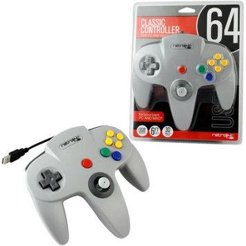 Retro-bit Nintendo 64 USB Classic Controller - Grey (RetroLink)