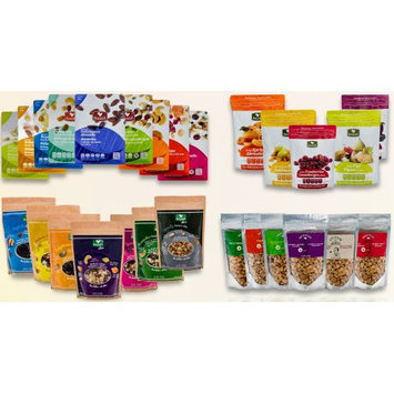 Basse Nuts Great Snacks - Mega Pack! Healthy Dried Fruit Mixes Complete with Superfood & Nutsterz Spicy Peanut Mixes for Energy & Nutrition