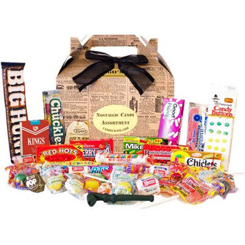 Candy Crate Newsprint 1960s Retro Candy Gift Box