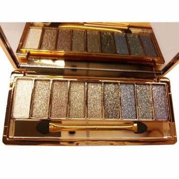 9 colors Waterproof Makeup Eyeshadow Glitter Palette with Brush BLLK