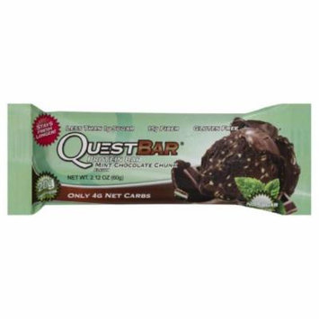 Quest Bar Mint Chocolate Chunk Protein Bar, 2.12 Oz (Pack of 12)