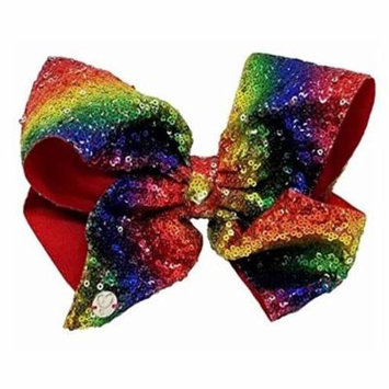 Jojo Siwa Rainbow Sequin Hair Bow