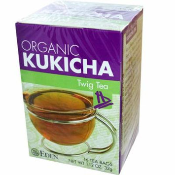 Eden Foods, Organic, Kukicha Twig Tea, 16 Tea Bags, 1.12 oz(pack of 4)