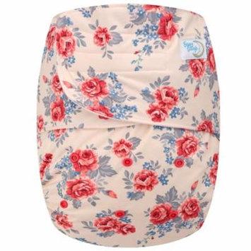 Happy Endings Teen / Adult Hook & Loop Closure Reusable Cloth Diaper Incontinence - Roses