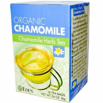 Eden Foods, Organic, Chamomile Herb Tea, 16 Tea Bags, .56 oz (pack of 4)