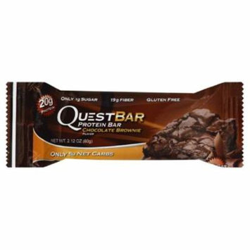 Quest Bar Chocolate Brownie Flavor Protein Bar, 2.12 Oz (Pack of 12)