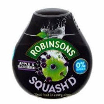 Robinsons Squash'd Apple & Blackcurrant No Added Sugar (66ml) - Pack of 2