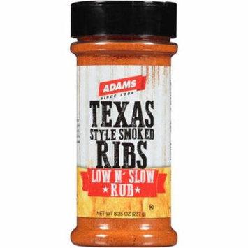 Adams Texas Style Smoked Ribs Low and Slow Rub, 8.35 oz