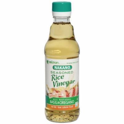 Nakano Seasoned Basil & Oregano Rice Vinegar 12 Oz (Pack of 6)