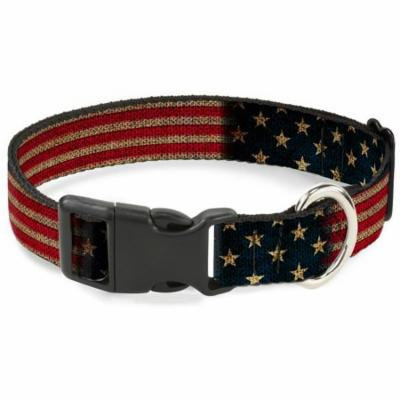 Buckle-Down Vintage US Flag Pet Collar - Large
