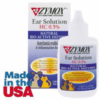 Zymox Dog Ear Health Solution .5% Hydrocortizone Pets Ear Infection Care Drops
