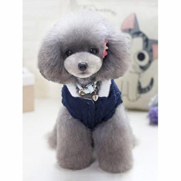 Blue Pet Clothes, Handmade Pet Sweater Clothes for Small / Medium / Large Dog Cat, Winter Warm Clothes Straw-Rope Jacket Coats for Puppy, S-2XL